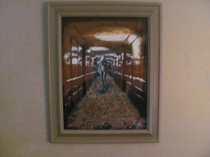 QUEEN MARY Hallway Painting 001